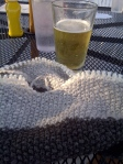 Working on my Coors Cowl... you see how I go the name!