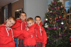 Christmas 2012- Kayden, Douglas, Sam & Charlie