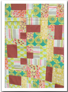 Yellow Brick Road Patchwork Quilt