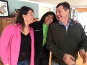 Annissa Essebai George, Rahema Ellis, and Doug George