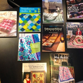 Some of our 75% off sale books - quilting!