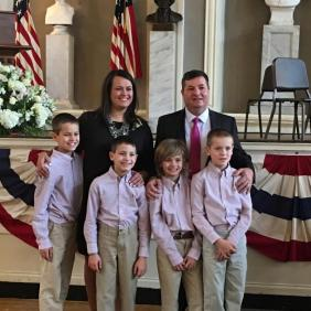 Annissa and her family at her swearing in.